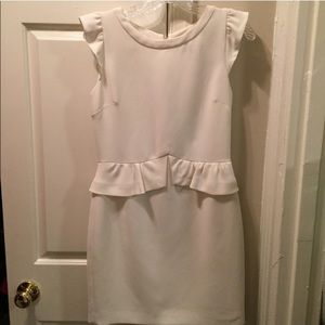Sandro white peplum dress